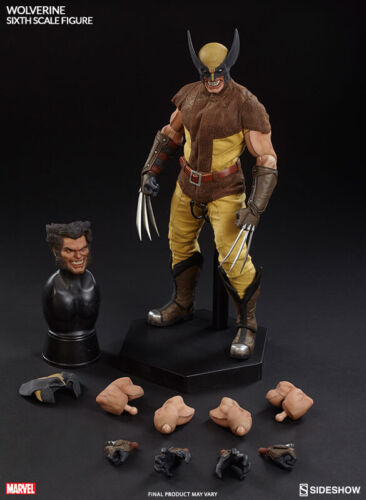 """Sideshow WOLVERINE Sixth Scale FIGURE Logan 1/6 DOLL 12"""" Marvel IN STOCK Misb!"""