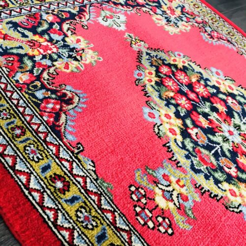 """Stunning C 1950 Semi Antique Exquisite Rug Hand Knotted 2' 0"""" x 2' 7"""" (37)"""