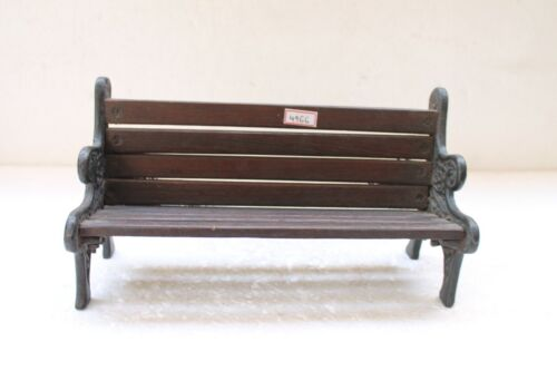 Antique Old Unique Iron And Wooden Small Cute Miniature Bench Collectible NH4966