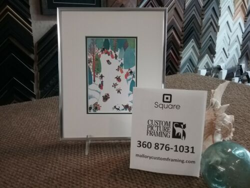 """New! Custom Framed One-of-a-Kind Art Card """"EVERGREEN BOWL"""" by Rie Munoz"""
