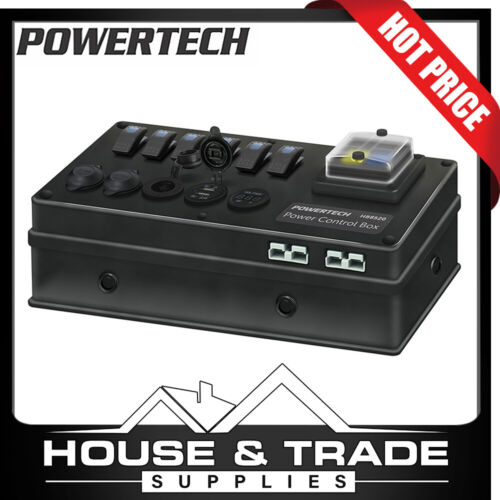 Powertech DC Control Box for External Battery with Voltage Display HB8520