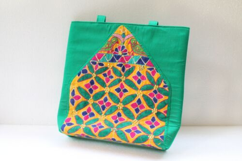 Antique Old Hand Work Embroidery Textile Used To Make Woman Hand Bag NH2883