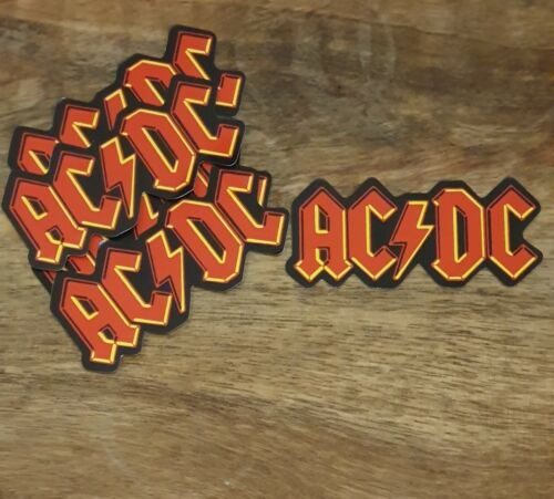 ACDC style sticker PACK OF 5 laptop Bumper Decal Band Rock