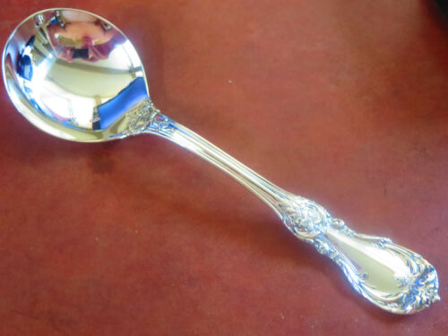 """BURGUNDY R&B STERLING CREAM SOUP SPOON 6 3/8"""" POLISHED GORGEOUS EXCELLENT NO MON"""