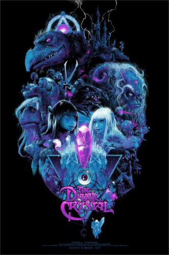 Wondercon 2019 The Dark Crystal Vance Kelly Poster Screen Print LE 350 IMPERFECT