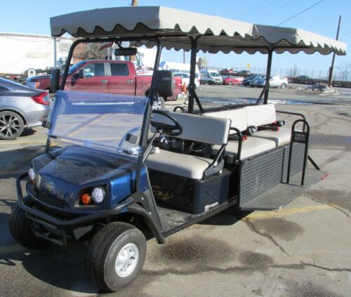 2018 Cushman Shuttle 2 10 Passenger Golf Cart with Canopy Road Legal Low Hours