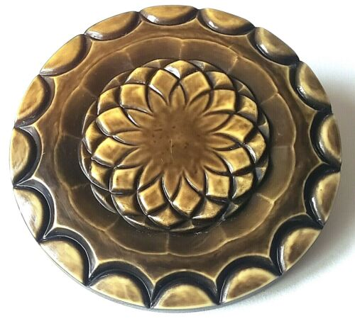 Giant Thick Celluloid Vintage Button…Almost 3 Inches!