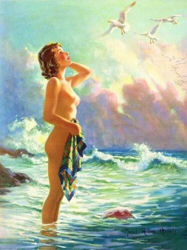 Lady by the Sea 2 by Mabel Rollins Harris