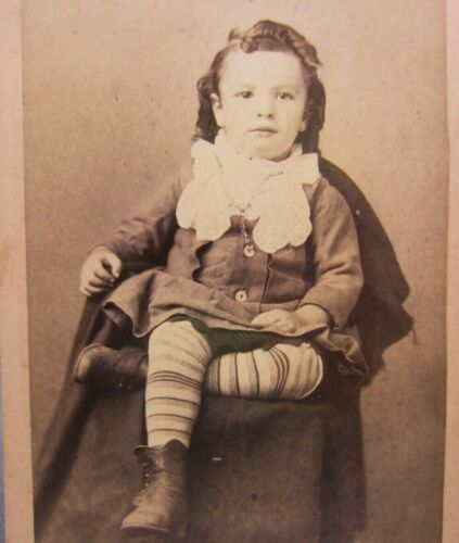 Victorian Antique Cabinet Card Photo of a Young Girl Child Kid
