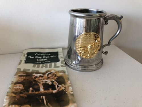 Rare Victory in the Pacific 50th Anniversary Tankard with Gold Plated Plaque Modern, Current - 36066