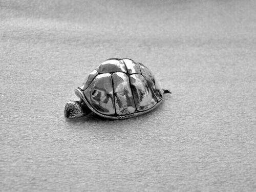 Antique S. Kirk & Son Solid Sterling Silver Turtle Sculpture Paper Weight 124g