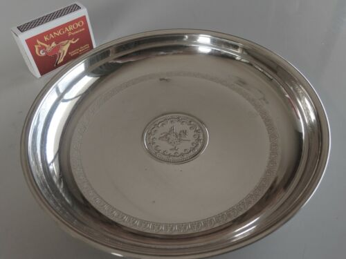 Interesting old silver bowl with Arabic-style symbol to the centre