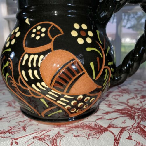 """A+ Contemporary Red Ware """"BERKS CO. PA. LESTER BREININGER"""" Artisan Pitcher"""