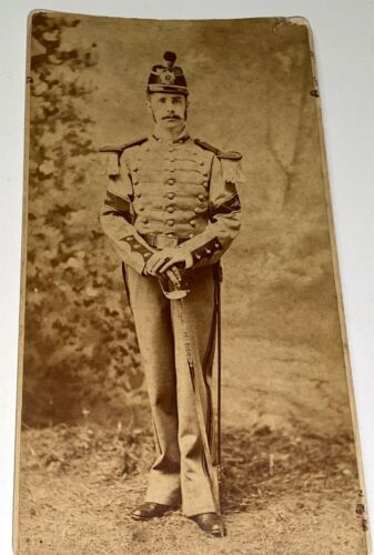 Rare Antique American 3rd New Jersey Reg. Military Soldier Cabinet Photo! Doctor