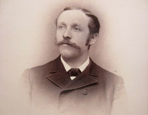 Victorian Antique Cabinet Card Photo of a Man