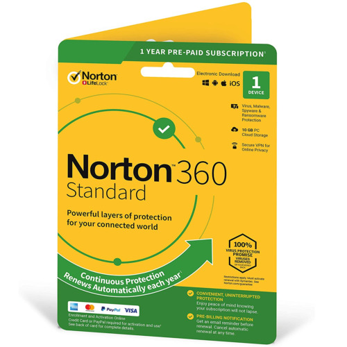 Norton 360 Standard for 1 Device - 1 Year - Digital Product Key Delivery