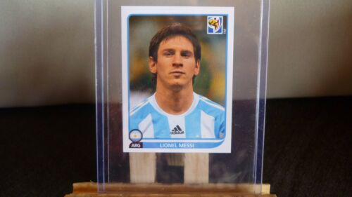 STICKER PANINI FOOT WORLD CUP AFRICA 2010 LIONEL MESSI N°122 STAR RARE PSA ?