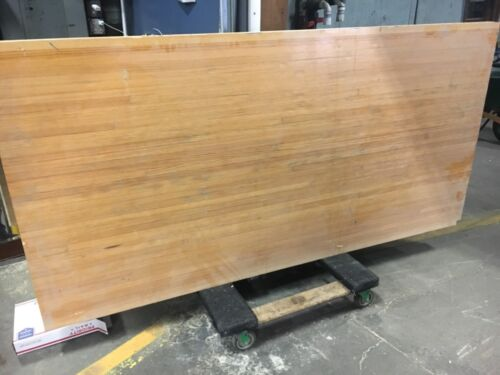 """c1950 bowling alley lane section rock maple slab 85"""" x 42"""" x 2.5"""" TABLE TOP poss"""