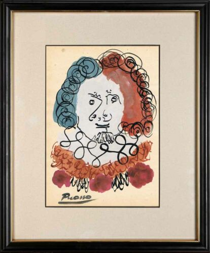 PABLO PICASSO - old handmade watercolor BEST PRICE !!!