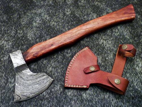 """New Beautiful Handmade Damascus Steel AXE """"UNIQUE AXE"""" Limited Edition WD-9430"""