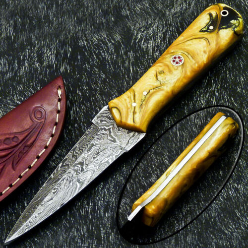 """Authentic CUSTOM HAND FORGED DAMASCUS 8.0"""" DAGGER KNIFE - RESIN HANDLE- PS-217"""