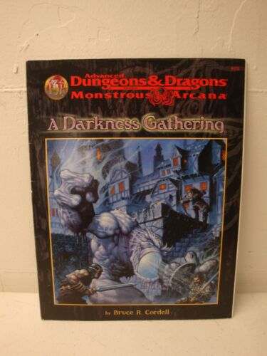 ADVANCED DUNGEONS AND DRAGONS A DARKNESS GATHERING TSR 9570 1ST PRINT