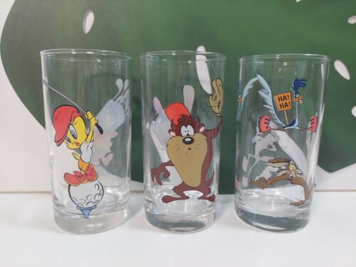 1997 IXL Collectables Glass Looney Tunes Road Runner Coyote Tweety Taz Devil