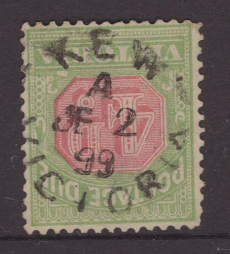 Victoria 4d POSTAGE DUE stamp with KEW 1899 unframed postmark