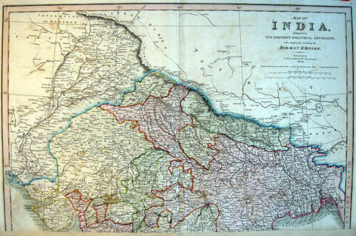 1835 INDIA * C. SMITH:London 71x55cm DETAILED 2 SHEET * POLITICAL Large!