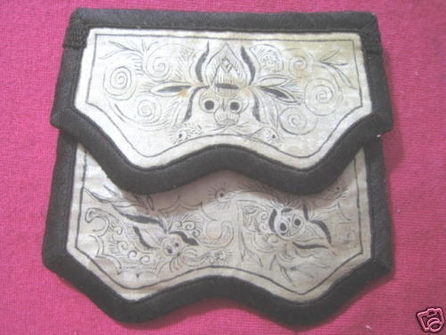 Rare Old Chinese Painting Wallet