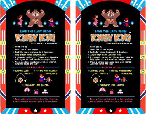 Top Holiday Gifts Arcade Donkey Kong Cocktail Instruction Card