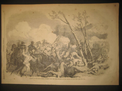 Battle Of Bull Run, 1st, Cavalry Charge Engraving 1861 Posters & Prints - 156382