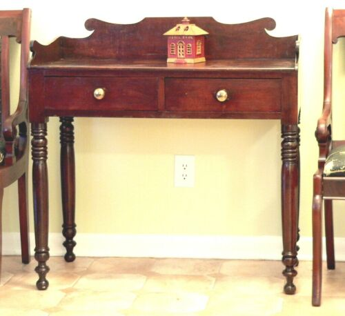 "Server, Sideboard Table, cherry, Sheraton, c1830, 36""w, dovetail gallery,"