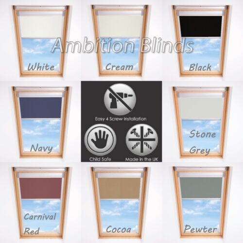 BLACKOUT ROLLER ROOF BLINDS FOR ALL FAKRO WINDOWS EASY FIT CHILD SAFE <br/> UPTO 7% OFF USING MULTI-BUY  FAST DELIVERY  MADE IN UK