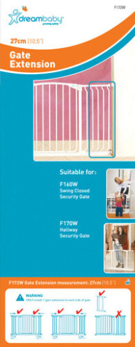DreamBaby GATE EXTENSION * Colors & Sizes NEED PINS