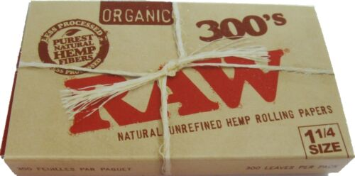 """Raw 300's Organic Hemp Rolling Papers 1.25""""/ 300 Papers!! **Free Shipping**"""