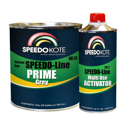 Automotive High Build 2K Urethane Primer Gray Gallon Kit, Fast Dry, SMR-210/211 <br/> Made in the USA, support American made products!