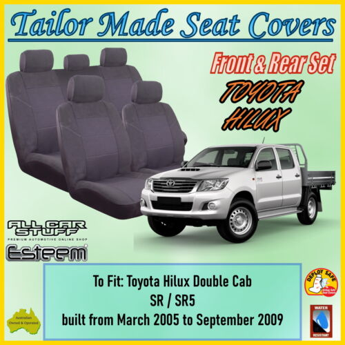 06-12 Tailored Fit Black Rear Bench Seat Covers for Ford Ranger Double Cab