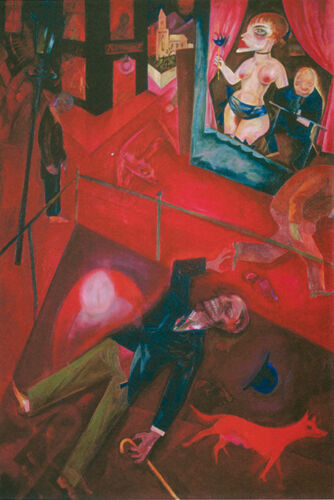 Suicide Street with Dog 1916 by George Grosz Fine Art Repro FREE S/H