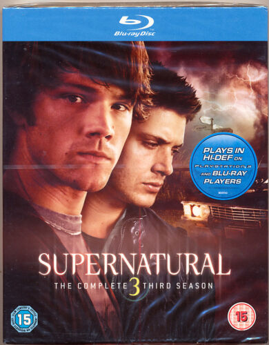 SUPERNATURAL  Complete Season 3   BLU RAY DISC Region B