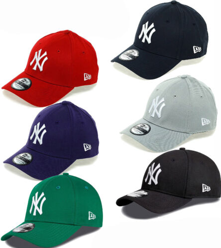 New Era 3930 League Basic NY Yankees Stretch Fit Baseball Cap <br/> Official MLB Curved Peak NY Stretch Fit Baseball Cap