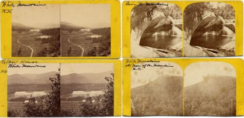 NEW HAMPSHIRE SCENES WHITE MOUNTAINS BASIN OLD MAN OF MOUNT STEREOVIEW SET OF 4