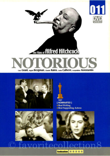 Notorious (1946) - Alfred Hitchcock, Ingrid Bergman, Cary Grant - DVD NEW