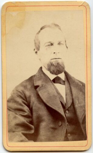 MAN WITH GREAT GOATEE BY E. FRANTZ TRAVELING ARTIST ANTIQUE CDV