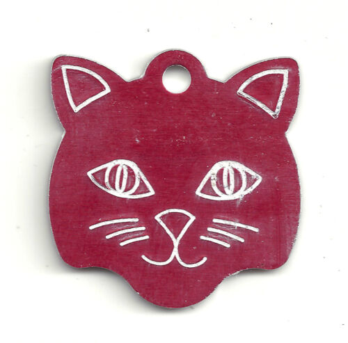 Small Kitten Face Kitty Cat Pet ID Tag FREE SHIPPING USA