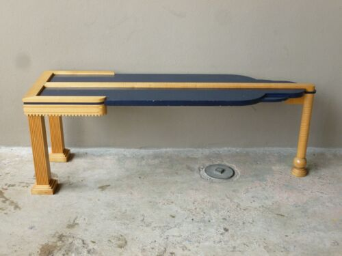 1970'S WENDY STAYMAN BENCH MADE SKYSCRAPER COFFEE TABLE IN THE ART DECO STYLE