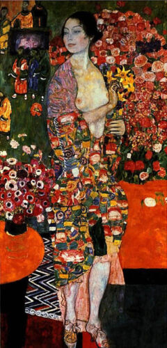 Dream-art Oil painting Gustav Klimt - The Dancer female portrait hand painted
