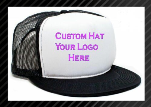 Custom Made Trucker Hat with your logo Mesh Snap back caps NEW  You Pick  Color 55a70b3d6c53
