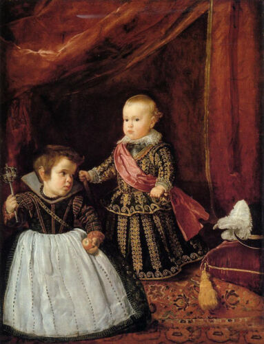 Huge Oil painting Diego Velazquez - Prince Baltasar Carlos with a Dwarf canvas