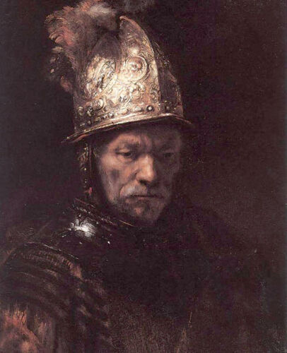 Dream-art Oil painting Rembrandt - Man in a Golden Helmet canvas hand painted